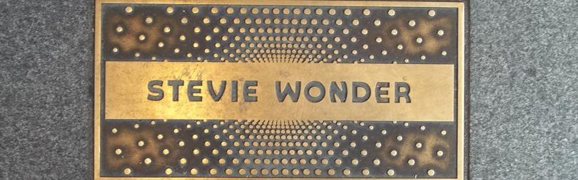 Stevie Wonder Plaque